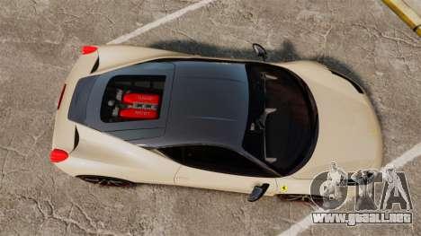 Ferrari 458 Italia 2011 para GTA 4 visión correcta