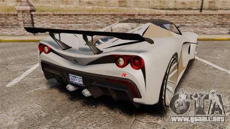 GTA V Grotti Turismo R para GTA 4 Vista posterior izquierda
