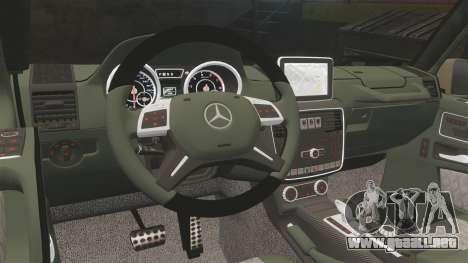 Mercedes-Benz G65 (W463) 2012 AMG para GTA 4 vista interior