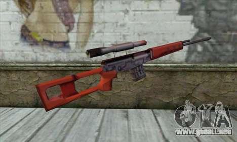 Rifle de Francotirador SVD para GTA San Andreas segunda pantalla
