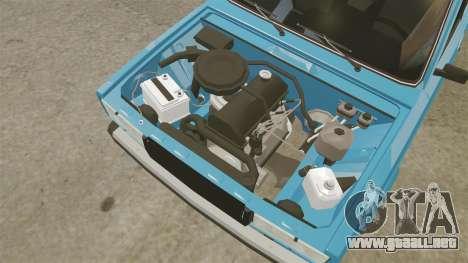 VAZ-2107 para GTA 4 vista hacia atrás