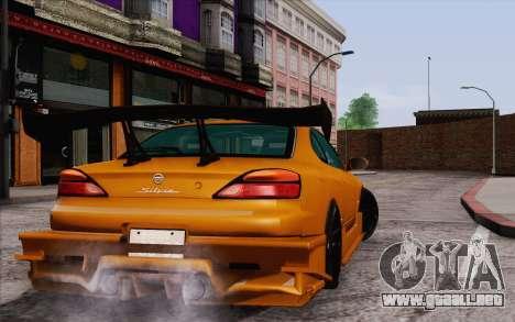 Nissan Silvia S15 GT Uras para GTA San Andreas vista posterior izquierda