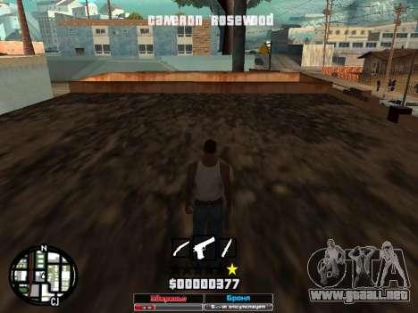 Cleo Hud Cameron Rosewood para GTA San Andreas