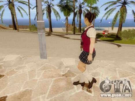 Hanako para GTA San Andreas séptima pantalla