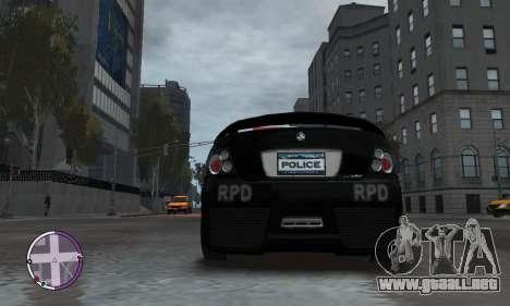 Holden Monaro CV8-R Police para GTA 4 vista lateral