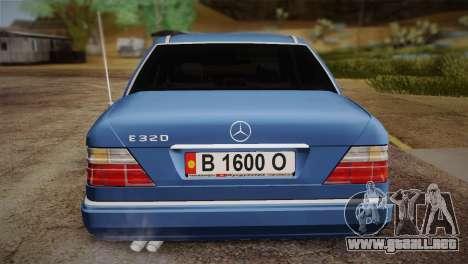 Mercedes-Benz E320 W124 para GTA San Andreas vista hacia atrás