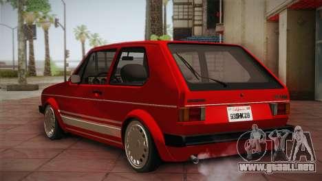 Volkswagen Golf MK1 Red Vintage para la visión correcta GTA San Andreas