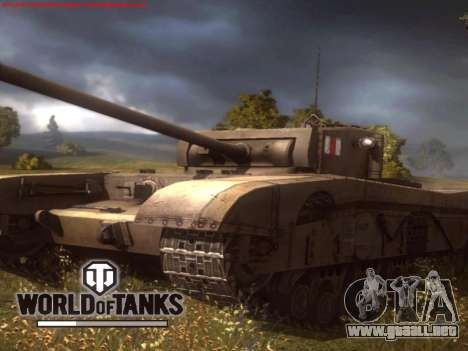La pantalla de inicio de World of Tanks para GTA San Andreas tercera pantalla