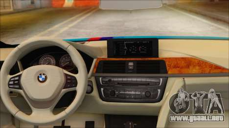 BMW 328d 2014 para GTA San Andreas vista posterior izquierda