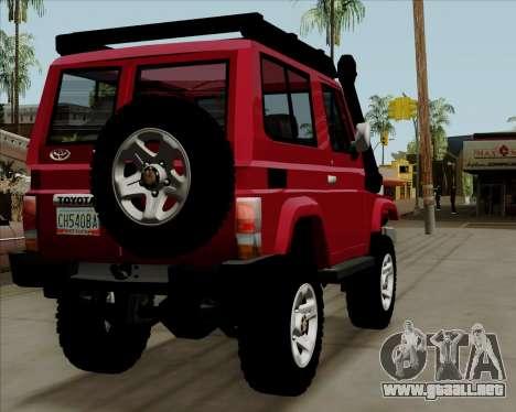 Toyota Land Cruiser Machito 2009 LX para la visión correcta GTA San Andreas