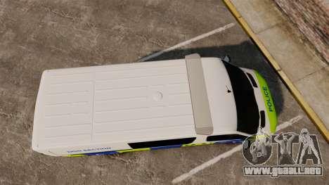 Mercedes-Benz Sprinter 211 CDI Police [ELS] para GTA 4 visión correcta