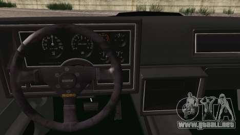 Buick Regal GNX para la visión correcta GTA San Andreas