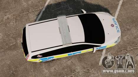 Ford Focus Estate British Police [ELS] para GTA 4 visión correcta