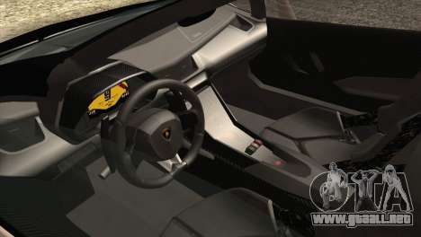 Lamborghini Veneno Roadster LP750-4 2014 para vista inferior GTA San Andreas