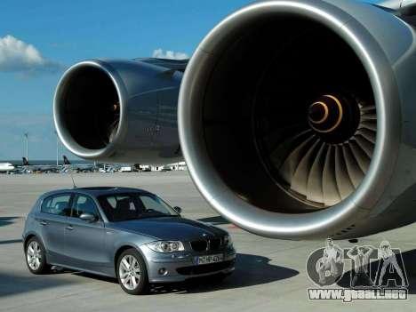 Inicio pantallas BMW 120i para GTA 4 octavo de pantalla