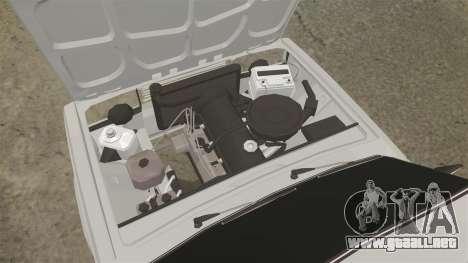 El USO de-Lada 2107 para GTA 4 vista interior