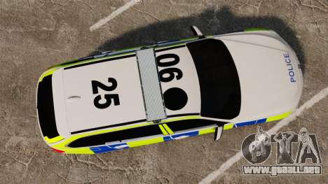 BMW 330d Touring (F31) 2014 Police [ELS] para GTA 4 visión correcta