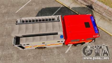 Scania 94D 260 BAS1 Stockholm Fire Brigade [ELS] para GTA 4 visión correcta