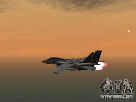 F-14 LQ para GTA San Andreas vista hacia atrás