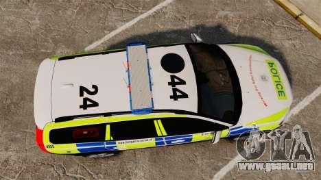 Volvo XC70 2014 Police [ELS] para GTA 4 visión correcta