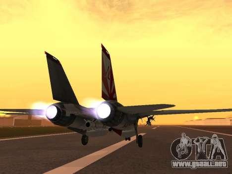 F-14 LQ para GTA San Andreas vista posterior izquierda