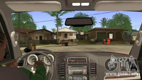 Mitsubishii Pajero IV para visión interna GTA San Andreas