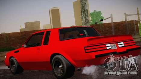 Buick Regal GNX para GTA San Andreas left