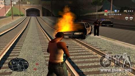 C-Hud by Stan Gomez para GTA San Andreas tercera pantalla