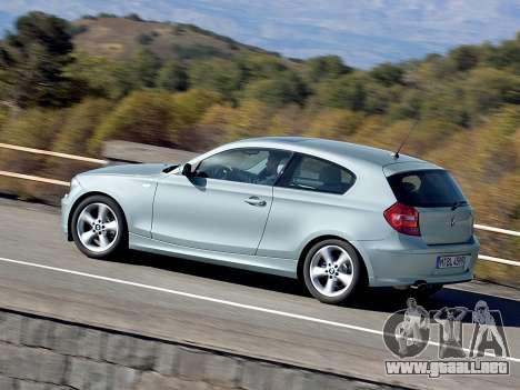 Inicio pantallas BMW 116i para GTA 4 segundos de pantalla