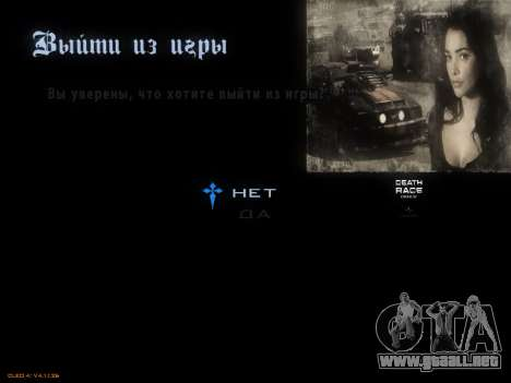 Menú De La Carrera De La Muerte para GTA San Andreas séptima pantalla
