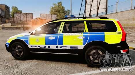 Volvo XC70 2014 Police [ELS] para GTA 4 left