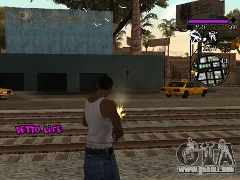 C-HUD Ghetto Life para GTA San Andreas tercera pantalla