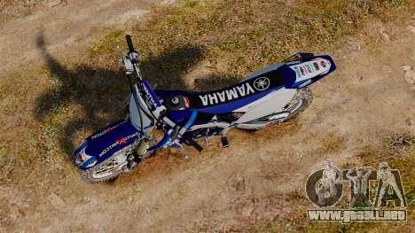 Kawasaki KX250F (Yamaha) para GTA 4 visión correcta