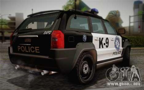 NFS Suv Rhino Light - Police car 2004 para GTA San Andreas left