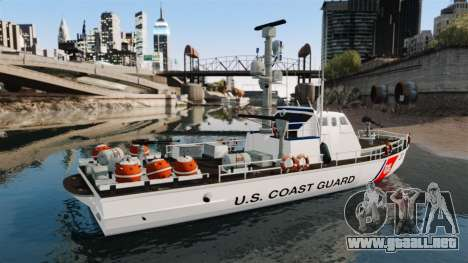 Канонерская barco U.S. Coastguard para GTA 4 left