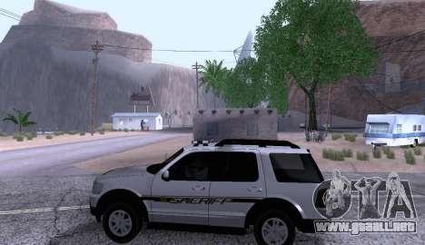 Ford Explorer Sheriff 2010 para GTA San Andreas left