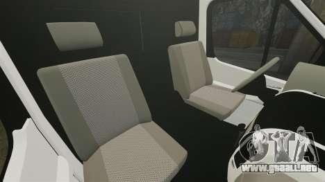Mercedes-Benz Sprinter 313 CDI Police [ELS] para GTA 4 vista interior