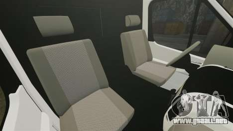 Mercedes-Benz Sprinter 211 CDI Police [ELS] para GTA 4 vista interior