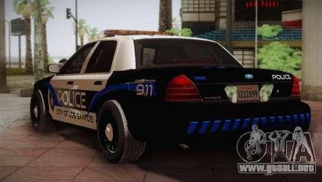 Ford Crown Victoria Police Interceptor 2009 para la visión correcta GTA San Andreas