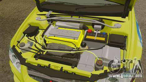 Mitsubishi Lancer Evolution VII 2002 para GTA 4 vista hacia atrás