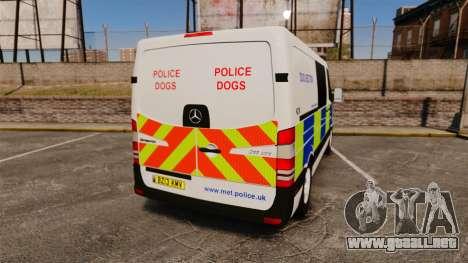 Mercedes-Benz Sprinter 211 CDI Police [ELS] para GTA 4 Vista posterior izquierda