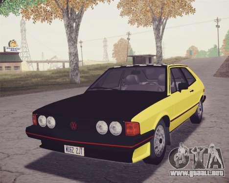 Volkswagen Scirocco S (Typ 53) 1981 HQLM para vista lateral GTA San Andreas