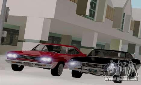 Plymouth Road Runner 383 1969 para GTA San Andreas vista hacia atrás