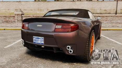 GTA V Dewbauchee Rapid GT para GTA 4 Vista posterior izquierda