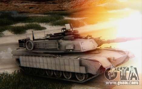 M1A2 Abrams para GTA San Andreas vista hacia atrás