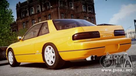 Nissan 240sx Dolor de 1992 para GTA 4 Vista posterior izquierda