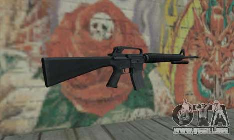 M16 de L4D para GTA San Andreas segunda pantalla