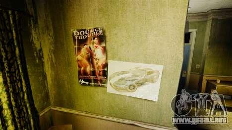 Nuevos carteles en el apartamento de la Novela para GTA 4