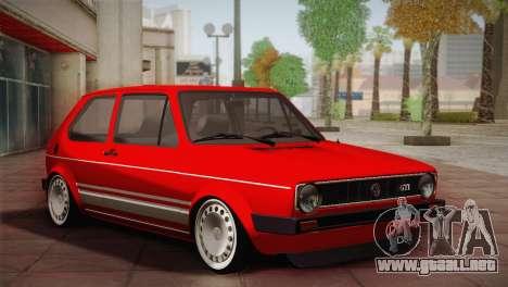 Volkswagen Golf MK1 Red Vintage para GTA San Andreas