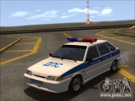 VAZ 2114 Policía DPS para vista lateral GTA San Andreas